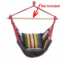 Wholesale Outdoor Garden Swing Chair Striped Hammock Chair Hanging Seat With Pillows Adults Kids Leisure Hammock Swing Chairs