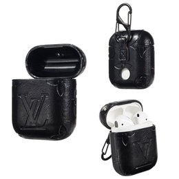 China Airpods Cases Protective Cover Hook Clasp Keychain Anti Lost Fashion Earphone Case Protector Luxury PU Leather cheap transparent charger suppliers