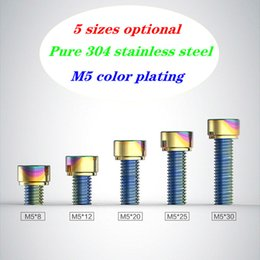 Wholesale The Motorcycle Screws Fixation Universal M5 Hexagon Stainless Steel Color Screw for Fuel Tank Cover Decoration Modified Accessories