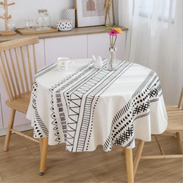 cotton rounds Australia - black boho bohemian desk table cloth cover round cotton dining mariage christmas tablecloth