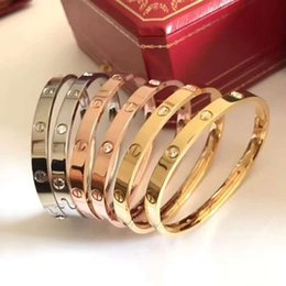 $enCountryForm.capitalKeyWord NZ - Pacco 316L Titanium Steel Love Bracelet silver rose gold h Bangles Women Men Screw Screwdriver Bracelet Couple Jewelry with original box set