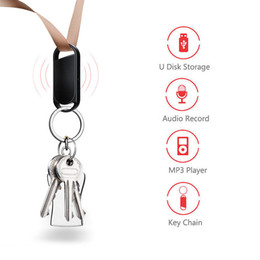 $enCountryForm.capitalKeyWord Australia - 4 in 1 Mini Key Chain Voice Recorder 8GB Portable Voice Activated Digital Audio Sound Recording Pen USB Disk Storage MP3 Player