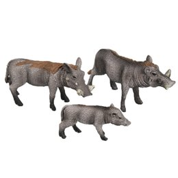 forest figures Australia - Set of 3pcs Plastic Realistic Wildlife Jungle Forest Boar Sow Joey Family Animals Action Figure Toys Playset Eduactional Collectibles