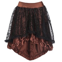 $enCountryForm.capitalKeyWord UK - 2019 summer new hot sale female models Womens Sexy Gothic Floral Lace High Waist Gothic Novelty Corset High Plus Skirt