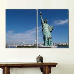 Statue Liberty Paintings Australia - Poster print painting statue of liberty united states 2 sets wall pictures for entrance hall decor