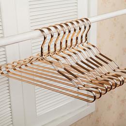 $enCountryForm.capitalKeyWord Australia - 5 Pcs New Thicker Aluminum Alloy Drying Racks Home Seamless Hanger Anti-slip Clothing Hanger Anti-rust Windproof Clothes Rack