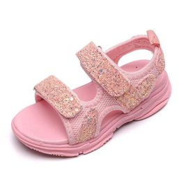 baby girl cute sandals Australia - Girls Brands Summer Sandals Children Soft Sole Beach Sandals 1-8 Years Old Baby Anti-slip Cozy Cute Sport Shoes