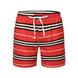 $enCountryForm.capitalKeyWord NZ - 2019 new hot men and women models summer red striped pattern printing temperament wild breathable couple swimming trunks