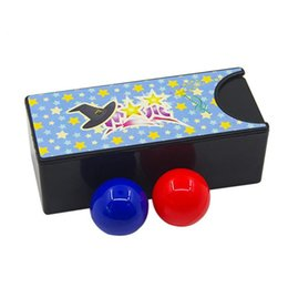 $enCountryForm.capitalKeyWord Australia - New Funny Gadget Kids Toys Changeable Magic Box Turning the Red Ball into the Blue Ball Props Magic Tricks Classic Toy
