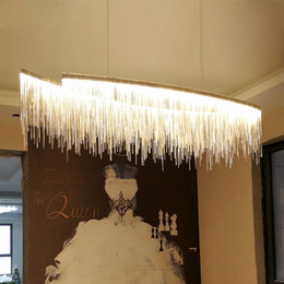 EnginEEring pEndant online shopping - Postmodern designer Modern designer Nordic tassel restaurant luxury chandeliers hotel engineering chain living room art hanging lights