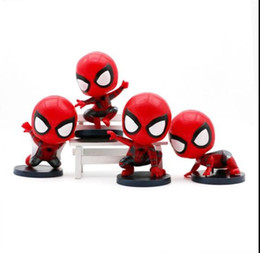 Chinese  Prettygift Hot Toys Cosbaby Marvel Spider Man Homecoming The Spiderman Q Version Action Figures Toys Car Home Decoration Doll 4Styles manufacturers