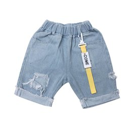 $enCountryForm.capitalKeyWord UK - Boys jeans Boys shorts kids jeans hole Casual Pants kids designer clothes boys clothes Summer kids clothes children clothing A5943