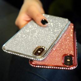 $enCountryForm.capitalKeyWord Australia - Rhinestone Glitter Case for iphone XS MAX XR 10 X 7 8 Plus 6 6s Soft Silicone TPU Diamond Sexy Girl Protector Back Cover
