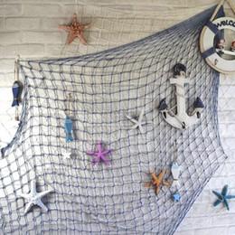 Decor Ornament Australia - Fishing Net Wall Hangings Decor with Seashells Rustic Nautical Style Wall Hangings Ornaments Decorative For Home Bar