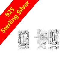 Discount crystal icicles - Women's Luxury NEW CZ Diamond Icicle Stud Earring Original box for Pandora 925 Sterling Silver Earrings Gift Fashio