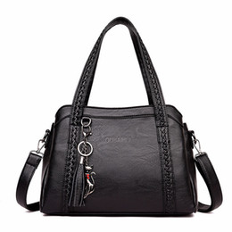 $enCountryForm.capitalKeyWord Australia - Crossbody Bags for Women 2018 Fashion Women Genuine Leather Handbags Totes Bags Soft Sheepskin Tassel Women Shoulder Bag Y190606