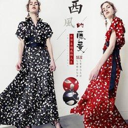 $enCountryForm.capitalKeyWord Australia - Vine Print Silk Fabric By Meter Width 46 Inch Elastic Cheongsam Material Vintage