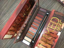 Naked Palette Sets Australia - naked eyeshadow palette brands Heat Eyeshadow Palette 12 Colors Professional Makeup Eyeshadow Palette With Makeup Brushes Makeup set