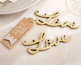 silver wedding giveaways Australia - Love Antique Gold And Silver Bottle Opener Bridal Shower Favors and Gift wedding giveaways gift Free shipping