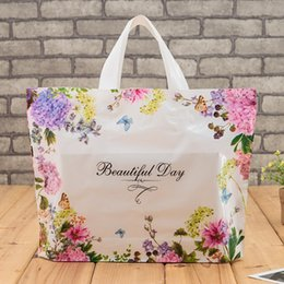 Wholesale Plastic Shopping Gift Bags Flower Thickened Clothing Storage Pounch Party Supplies Shopping Food Packaging Packing Bags - 0074Pack