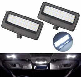Xenon Reverse Lights Australia - 2Pcs Car Styling Auto LED Vanity Mirror Lamp Reading Lights Bulbs for BMW F10 F11 F07 F01 F02 F03 5 Series 7 Series Xenon White