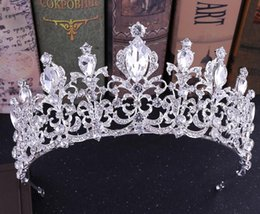baroque wedding dresses 2019 - 2019 The new bride headdress European baroque crown in the crown of the wedding dress accessories cheap baroque wedding