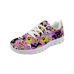 $enCountryForm.capitalKeyWord NZ - Noisydesigns Fashion Home Shoes for Girls Golf shoes skull Bracelet Zapatos De Mujer Women's Women Flats Student -AQ