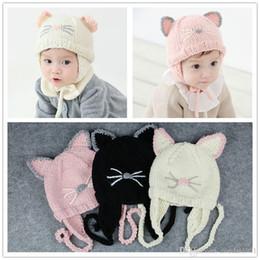 $enCountryForm.capitalKeyWord Australia - Winter Unisex Knitted Baby Hat Cute Cat Pattern Kids Children Baby Boys Girls Cap Fashion Warm Children Baby Hats Infantil