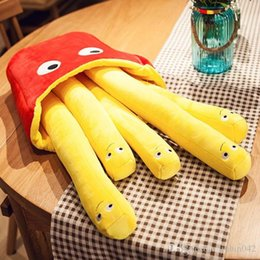 hot bar Australia - 20170726 Hot Sales Of Cute Snacks Simulation Fries Pillow Plush Toys Long Bars Children's Birthday Gifts Girl Choice Of Food