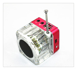 $enCountryForm.capitalKeyWord Australia - Mini Digital Speaker Portable Music MP3 4 Player Micro SD TF USB Disk Speaker FM Radio Red Blue Green Hot Sale