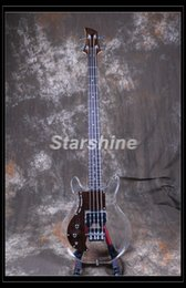 Left handed basses online shopping - Starshine Left Hand Electric Bass Guitar DK LD10 Acrylic Body Maple Neck Rosewood Pickguard