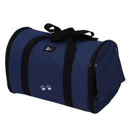 $enCountryForm.capitalKeyWord Australia - L Pet Dog Cat Puppy Portable Travel Carrier Tote Bag Crates Kennel - Dark Blue