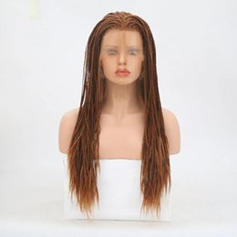 Baby Wash Hair Australia - lala hair! Can washing Synthetic Lace Frontal Wigs With Baby Hairs braid Heat Resistant Glueless Synthetic braid Hair Lace Wig
