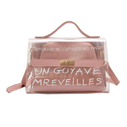 $enCountryForm.capitalKeyWord Australia - New Design Women Transparent Bag Clear PVC Jelly Small Tote Summer Beach Bag Messenger Bags Female Crossbody Shoulder Bags