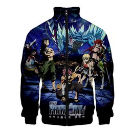 fairy tail prints Australia - Fairy tail 3D Print Women Men Fashion Zipper Standing Collar Casual Street Cool Hipster Hooded Sweatshirt Popular Hoodies Zipper
