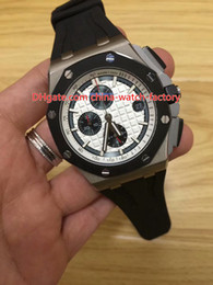 Quartz stainless steel black red band online shopping - 8 Style Topselling High Quality mm Offshore RO OO A002CA Rubber Strap Bands VK Quartz Chronograph Workin Mens Watch Watches