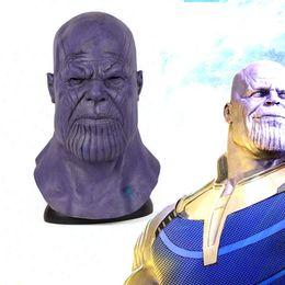 $enCountryForm.capitalKeyWord Australia - Deluxe Thanos Mask Halloween Scary Horror Latex Full Face Thanos-mask Adult Props Infinity Maske Event Party Masks