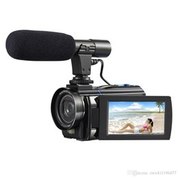 Видеокамера, 4К цифровая видеокамера 30МП 2880 х 2160 HD 3-дюймовый сенсорный экран удобная камера с ИК ночного видения поддержка 16-кратным зумом камеры + микрофон