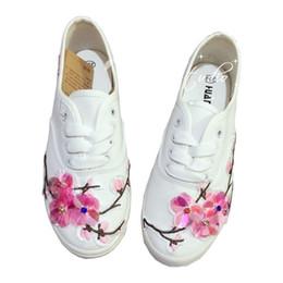 $enCountryForm.capitalKeyWord Canada - New Xiaobai Sansheng III Peach Blossom Flat Low Top Canvas Shoes Heavy Industry Sequins Rhinestone Sneakers