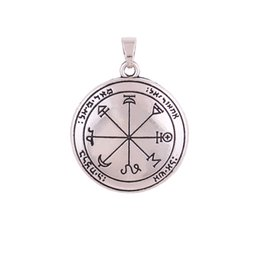 Coin Locket Pendants UK - HY052 Viking vintage necklace accessories jewelry women men metal Commemorative Coin gold plated religious amulet pendants