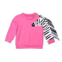 $enCountryForm.capitalKeyWord UK - Tassels Toddler Kid Baby Girls 3D Zebra Tops T-shirt Sweaters Clothes 1-6Years