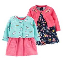 $enCountryForm.capitalKeyWord NZ - 2 Pieces Set New Flower Dresses Cotton Jumpsuits Girls Fashion Spring Autumn Clothes Newborn Baby Girl Roupa Q190518
