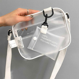Transparent Cards Australia - Kids Handbags Causual PVC Transparent Clear kid Crossbody bags Shoulder bag Handbag Jelly Small Phone bags with Card Holder Wide Straps Flap