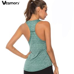 $enCountryForm.capitalKeyWord Australia - Women Sleeveless Fitness Yoga Shirts Racerback Sport Yoga Tank Tops Quick Dry Gym Athletic Running Vest Workout Training T Shirt
