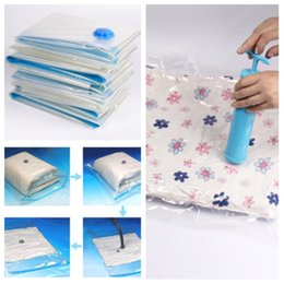 Vacuum sealed clothes storage online shopping - New Vacuum storage bag compression bag clothing quilt air pump sealed bag used for organizing cabinet wardrobeT2I5106