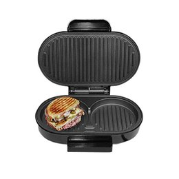 bread machines 2019 - BBQ Steak Hamburger Electric Grill Meat Roaster Machine Egg Frying Pan Panini Sandwich Maker Bread Oven Breakfast Barbec