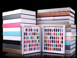 Nail book display online shopping - 216 Colors Nail Gel Polish Display Card Book Chart With Tips Nail Art Salon Set With False Nail Tips X176