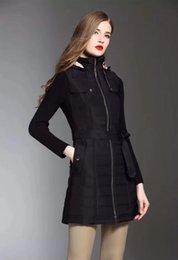 Ingrosso donne di cotone a maniche lunghe in cotone a sezione lunga e staccabili con cerniera invernale in lana misto maniche elastiche inverno nuove donne