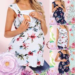 $enCountryForm.capitalKeyWord Australia - Pregnant Women Floral Printed Vest Maternity Nursing Baby T-shirt Sleeveless Tops Feeding Vest Loose Breastfeeding Tanks clothing plus size
