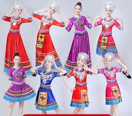 miao clothing Australia - New Miao Dance Costume Tujia Performing Clothes Adult Miao Costume Women Yunnan Square Dance
